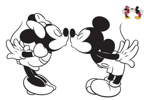 Bacio Topolino e Minnie