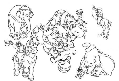 disegni Dumbo personaggi