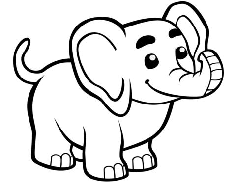 disegni elefante