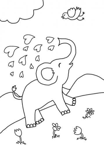 disegni elefanti