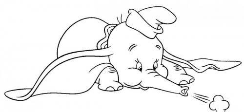 disegni facili da fare Dumbo