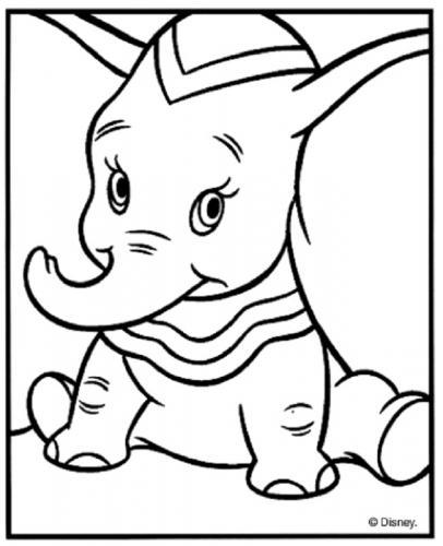 disegni facili Dumbo