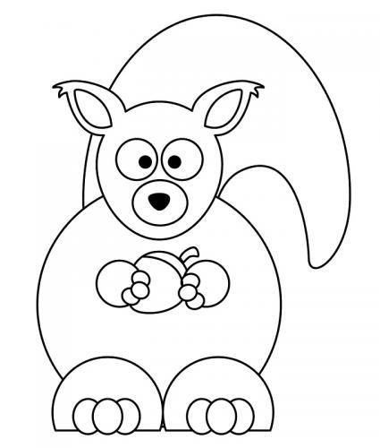 disegni facili scoiattoli