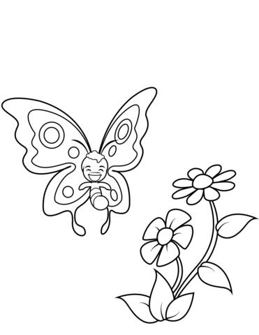 disegni farfalle e fiori