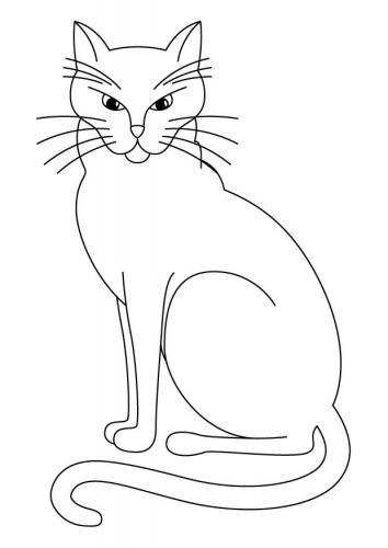 disegni gatti da colorare