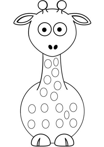 disegni giraffa da colorare per bambini