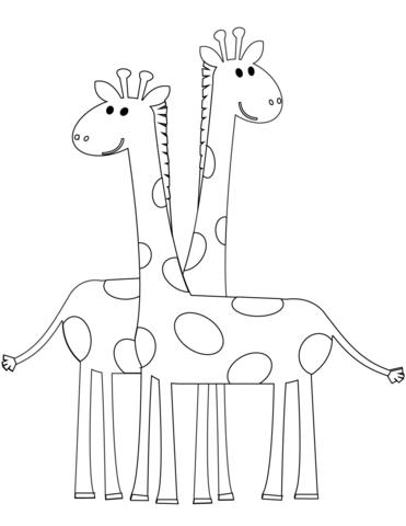 disegni giraffe simpatiche