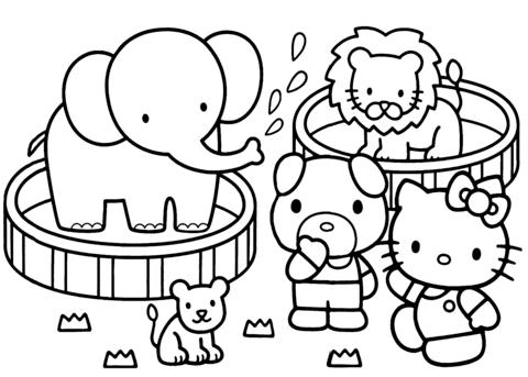 disegni hello kitty da stampare