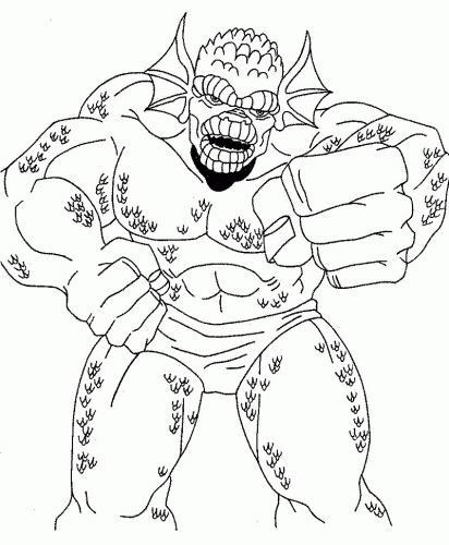 disegni hulk da colorare gratis