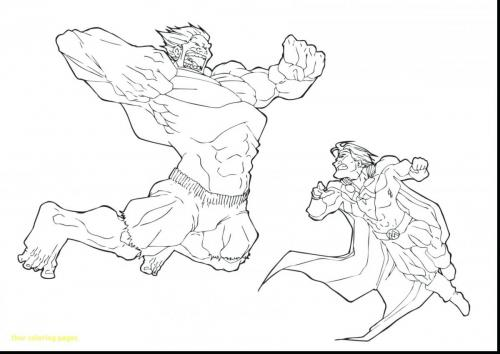 disegni hulk da colorare on line