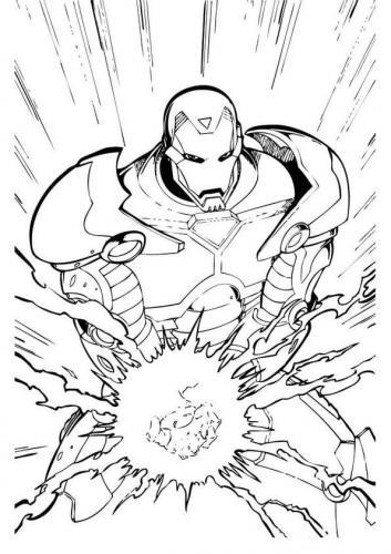 disegni Iron Man da colorare