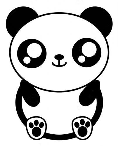 disegni kawaii panda