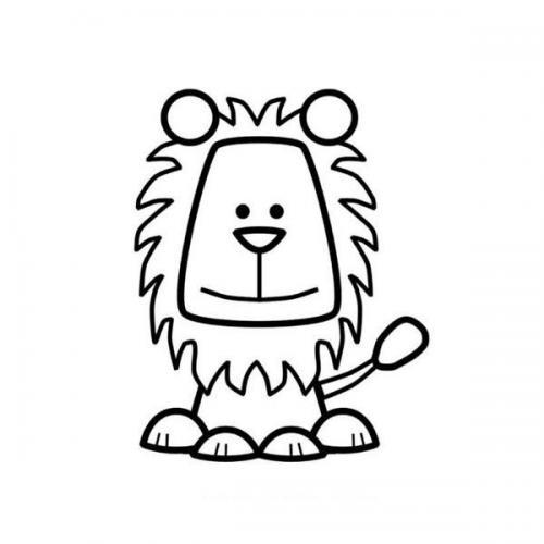 disegni leone da colorare