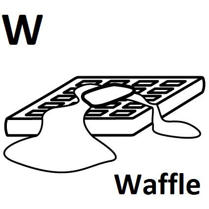 disegni lettere alfabeto W
