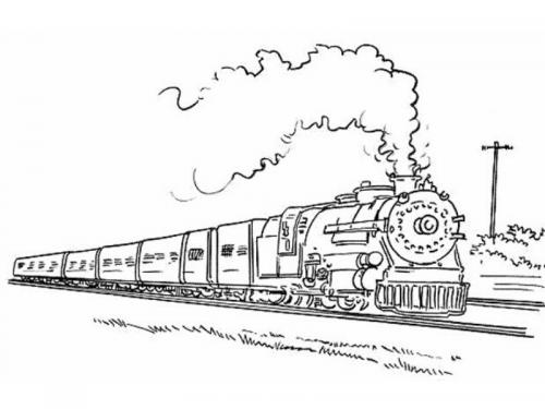 disegni locomotiva