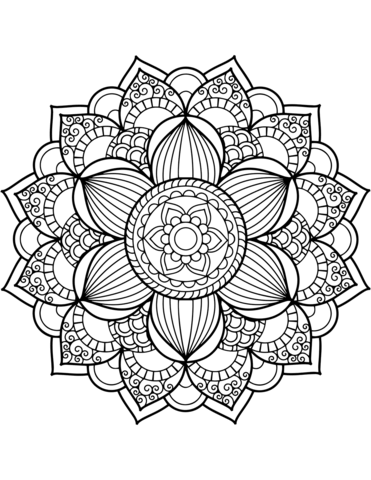 disegni mandala da colorare