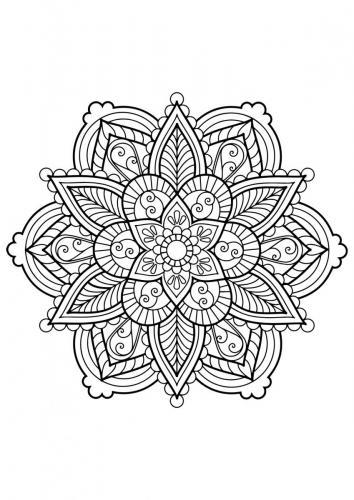 disegni-mandala da stampare e colorare