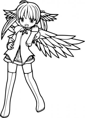 disegni matita angeli