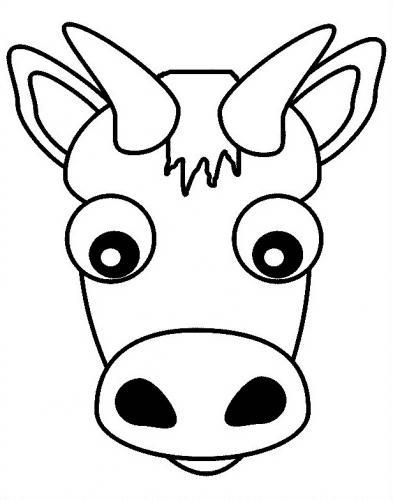 mucca in primo piano