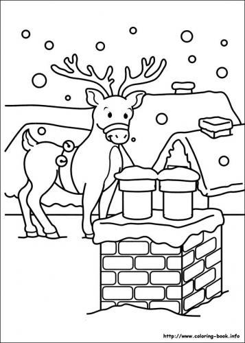 Una renna vicino il camino