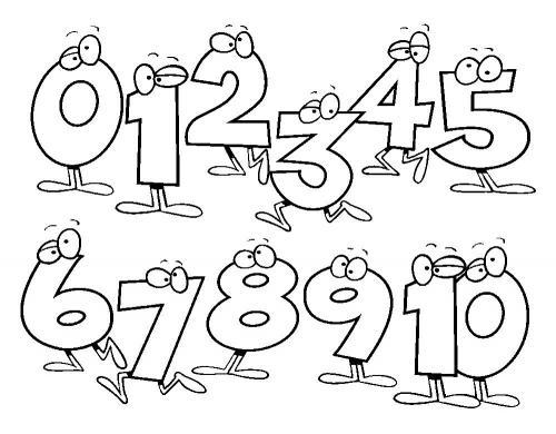 disegni numeri