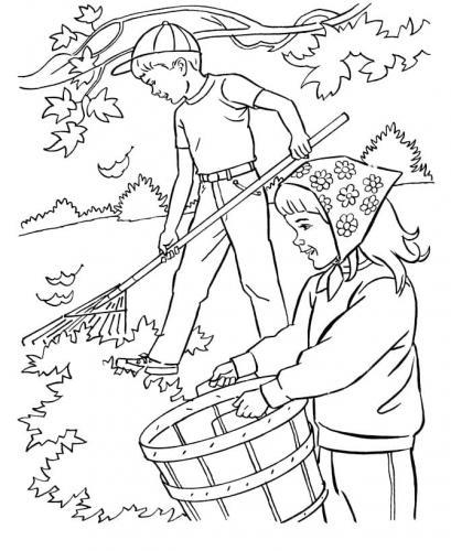 disegno paesaggio con bambini