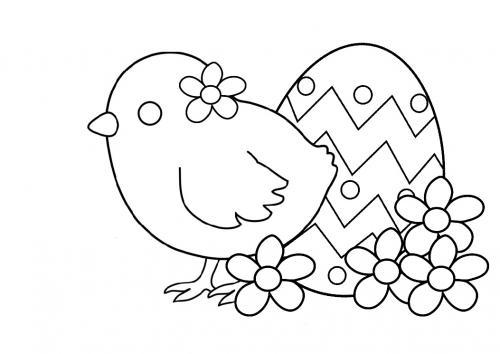 disegni pasquali da colorare e stampare