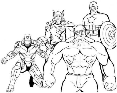 disegni per bambini da colorare Avengers