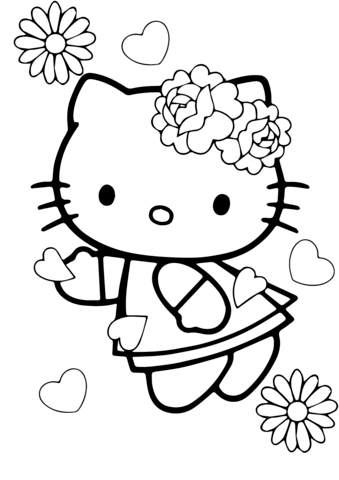 disegni per bambini hello kitty da colorare