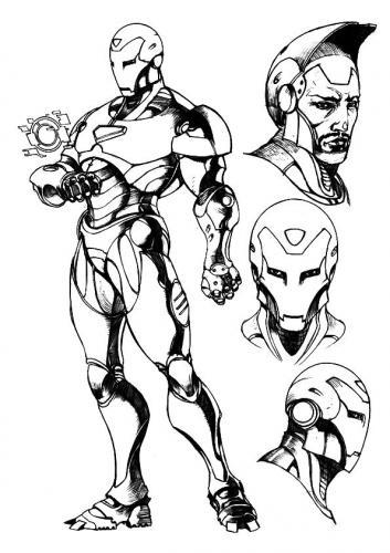 disegni per bambini Iron Man