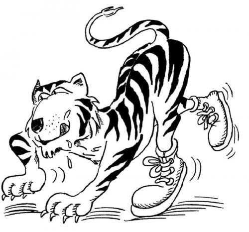 disegni per bambini tigre
