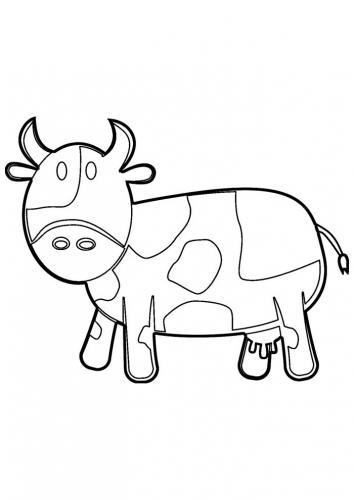 mucca da colorare per bambini