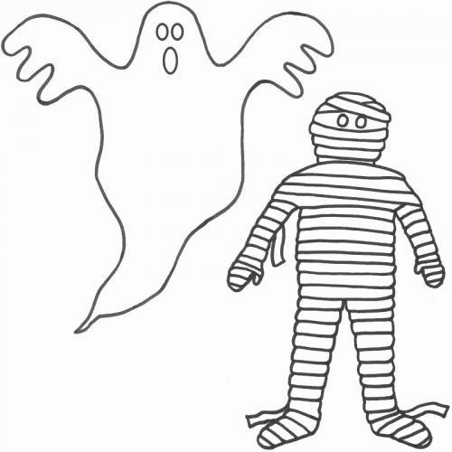 fantasma con la mummia