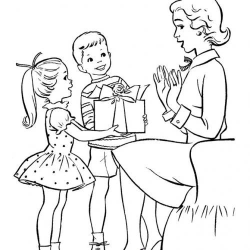 disegni per la festa della mamma colorati
