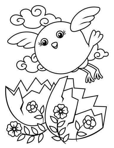 disegni per pasqua da colorare