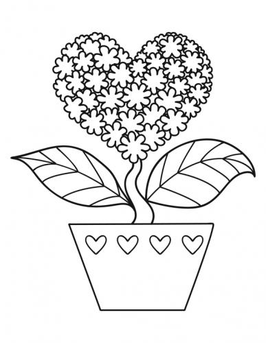 disegni per san valentino da colorare