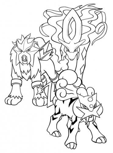 disegni Pokémon Leggendari da colorare e stampare