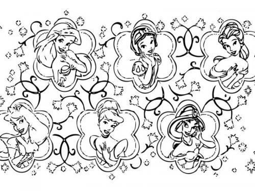 disegni principesse