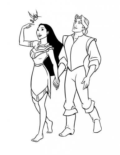 Pocahontas passeggia