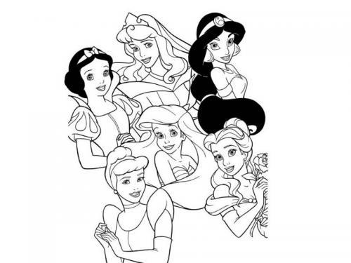 disegni principesse disney