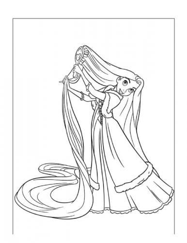 disegni rapunzel