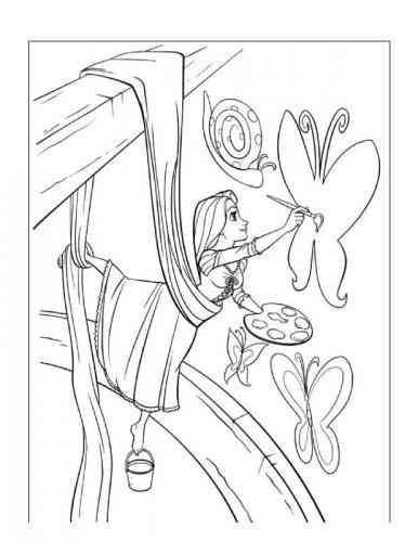 Rapunzel 68 Disegni Da Stampare E Colorare A Tutto Donna