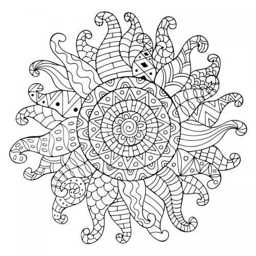 disegno del sole decorato
