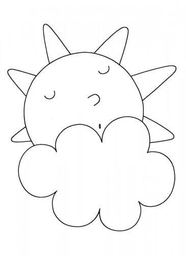 sole che dorme dietro una nuvola