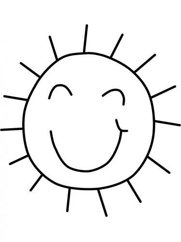 disegno del sole stilizzato