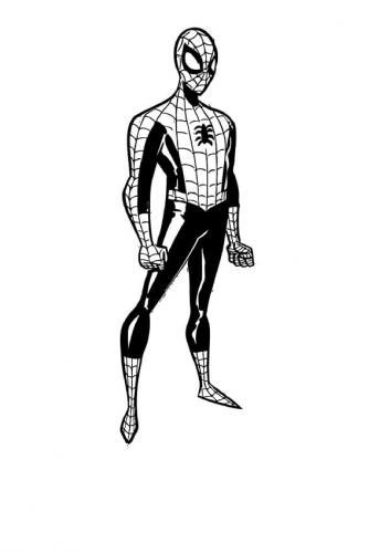 disegni spiderman da colorare e stampare