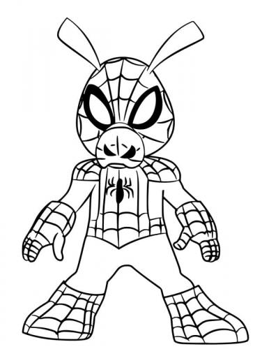disegni spiderman da colorare gratis