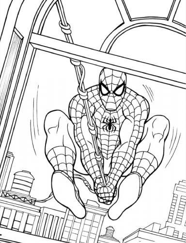 disegni spiderman da colorare