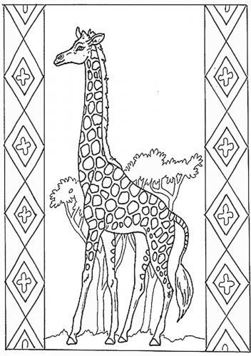 disegni stilizzati giraffe