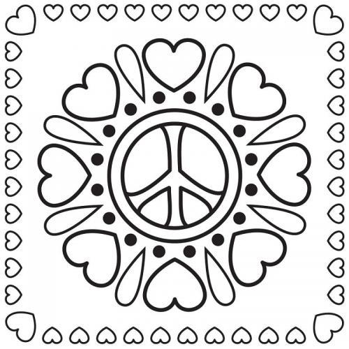 cuori e simbolo della pace